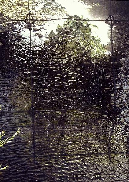 Waterweb, 2008 :: mixed media (40 x 20 1/2 x 2 in.)