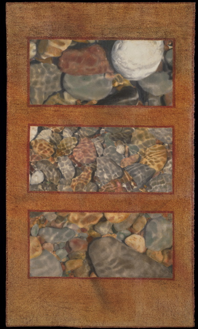 Superior Stones, 2009 :: inkjet print on canvas, colored pencil, oil pastel (36 1/2 x 21 1/2 in.)